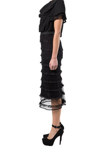 Stretchy Frill Skirt