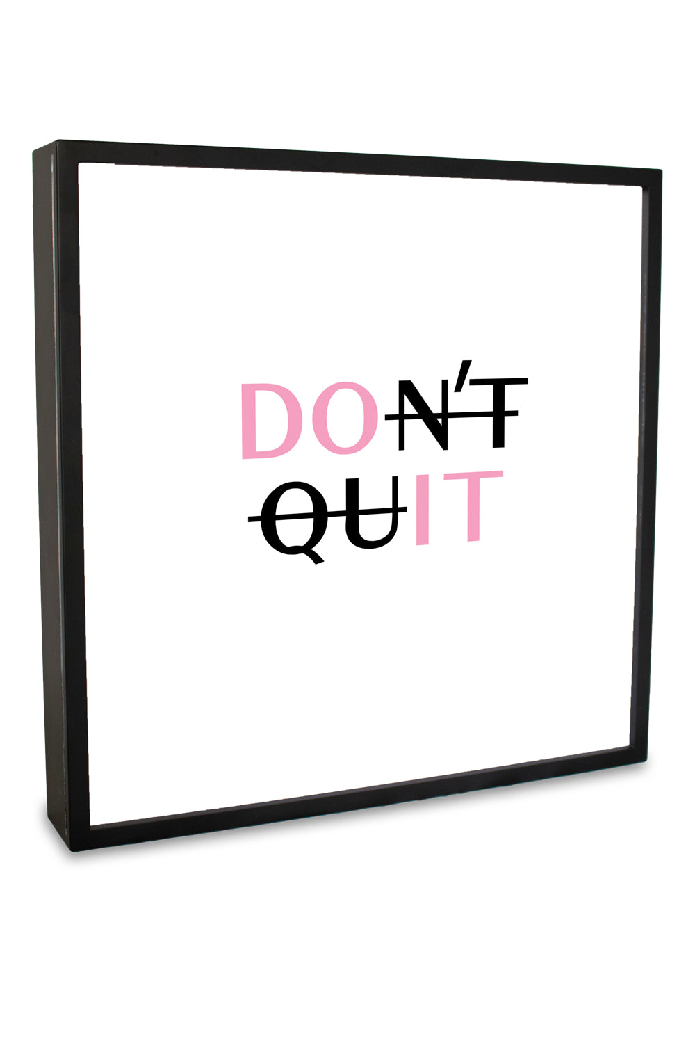 Don't Quit Lightbox | Home Decor | Light box | Art Lightbox | Quote Lightbox | Quote | Annah Stretton | Homewares