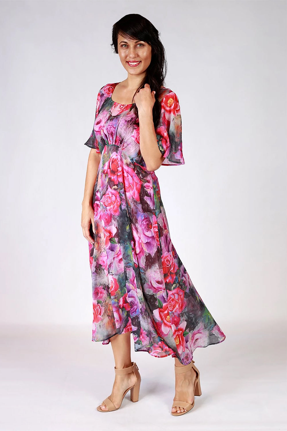 Designer Fashion NZ / Evening Dresses NZ / Evening Wear NZ /  Floral Dresses NZ /