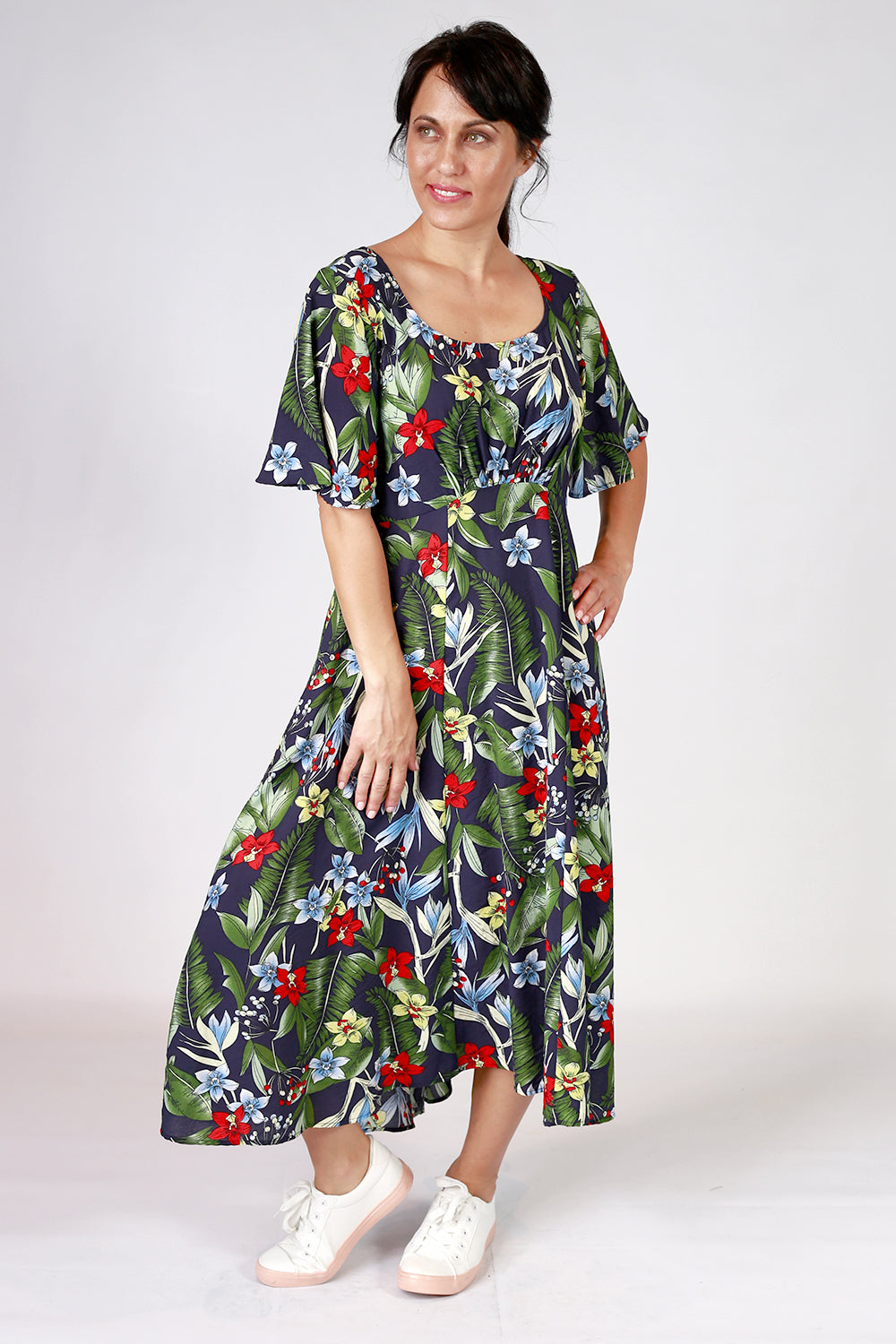The Down the Line Dress | Designer Dress NZ | Annah Stretton | Designer Fashion NZ | Navy Dress NZ | Floral Dress NZ