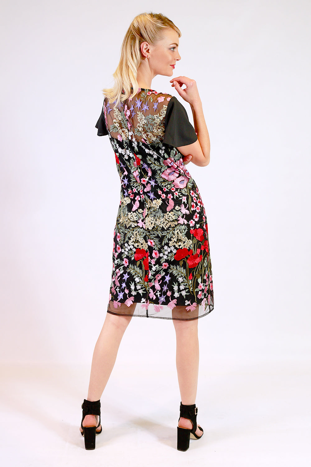 International Delivery Dress | Mid Length Dresses NZ | Designer Fashion NZ | Floral Dresses NZ