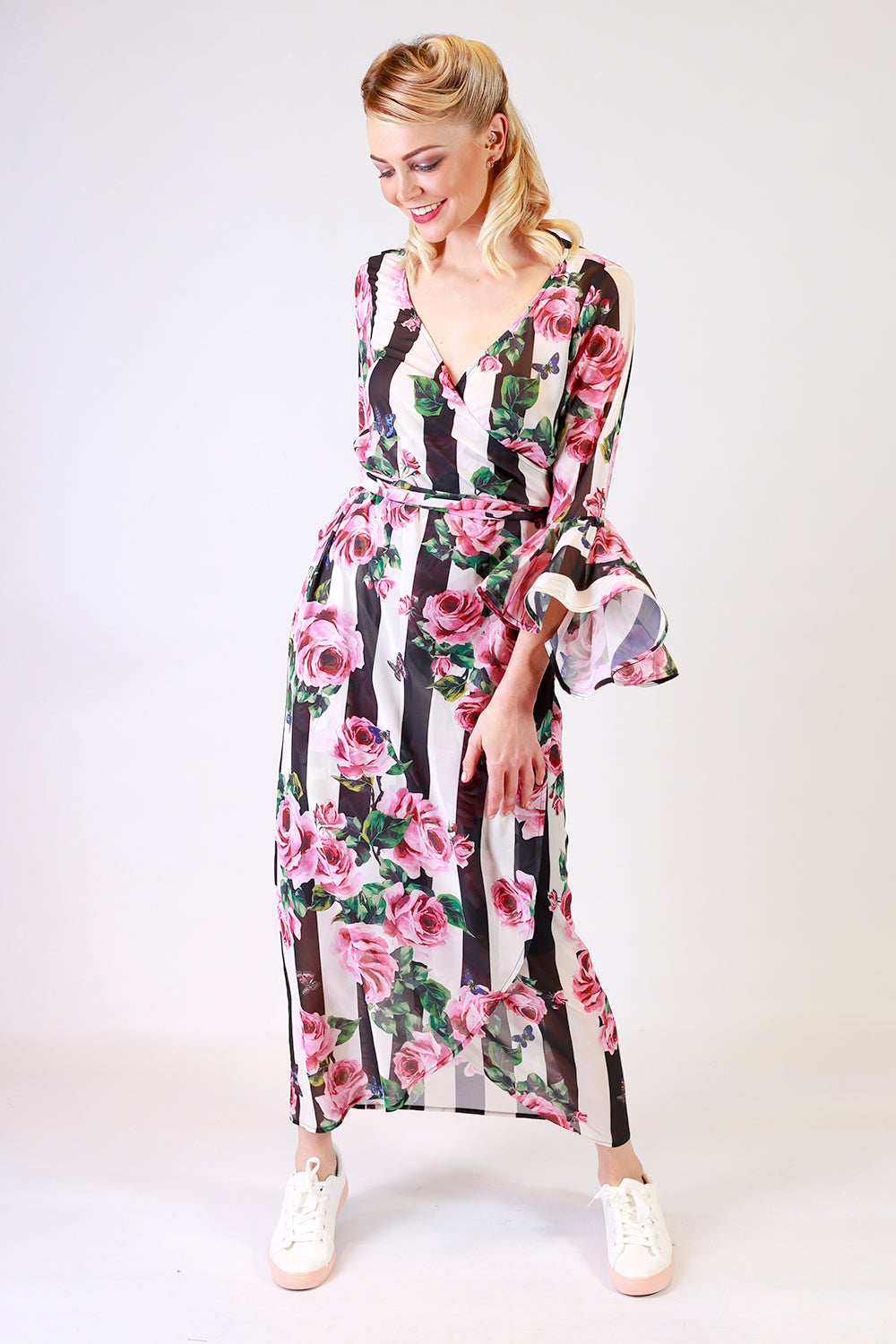 Carah Lily Wrap Dress | Wrap Dresses NZ | Occasion Dresses | Formal Dresses NZ | Evening Dresses NZ | Designer Fashion NZ | Floral Dresses NZ