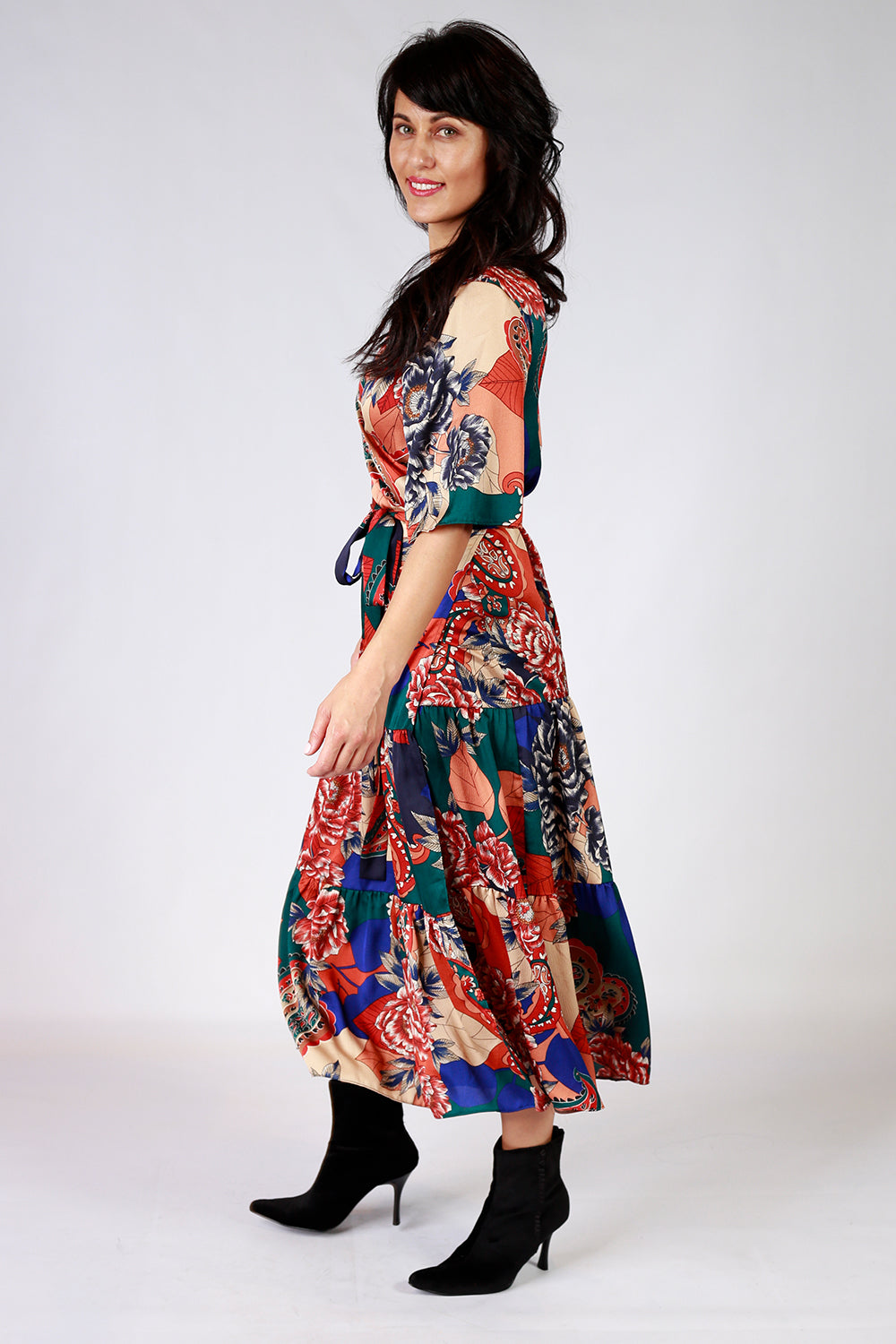 Maddly Mertle Dress | Gypsy Fare AW20 | Annah Stretton | Wrap Dress | Annah Stretton Fashion | Designer Fashion | Floral Dress | Polka Dots | Designer Dress | Boho Dress | Annah Stretton NZ | Designer Fashion NZ | Evening Dresses NZ