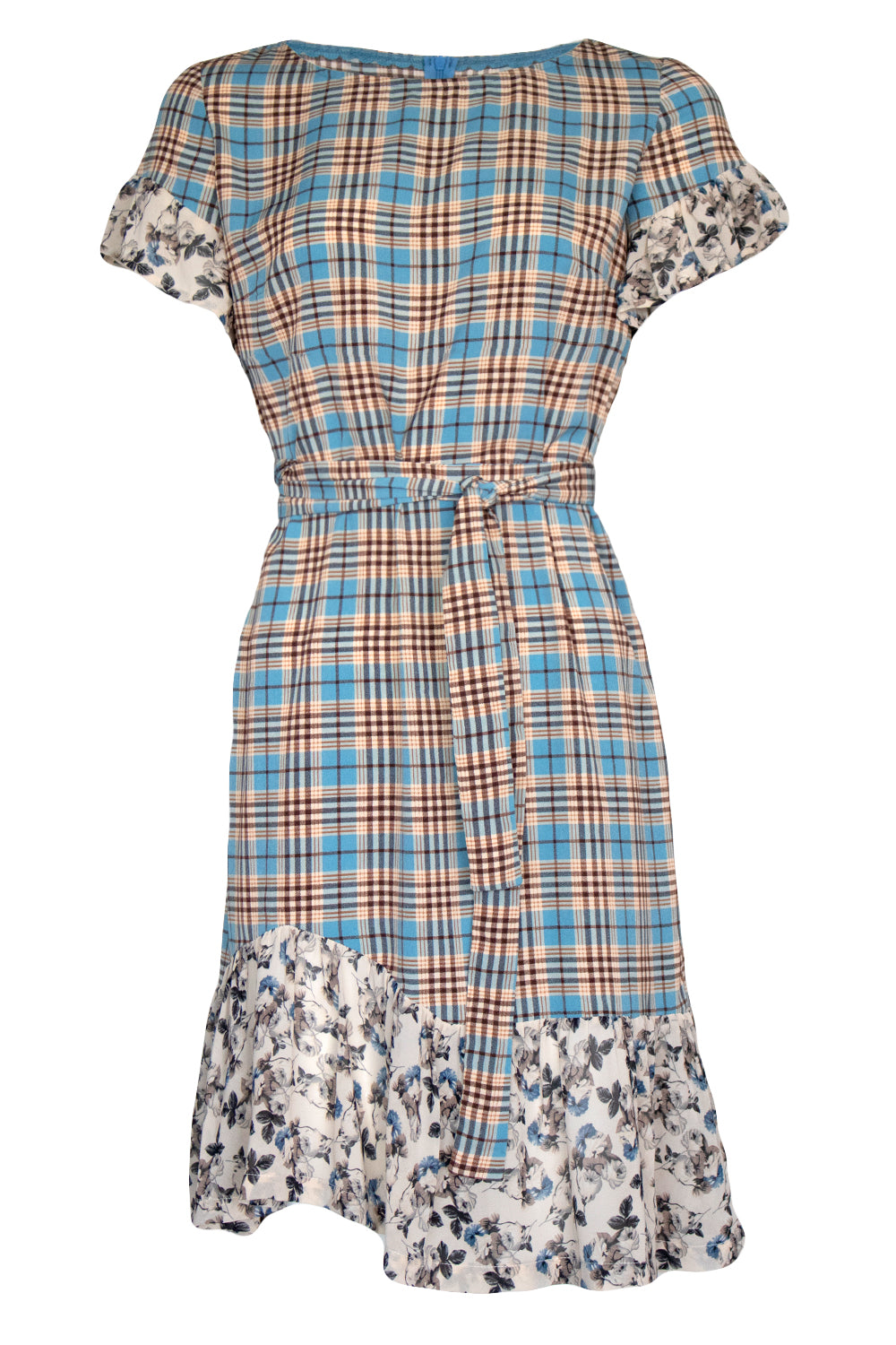 Ivy Dress - Plaid/Floral - SALE