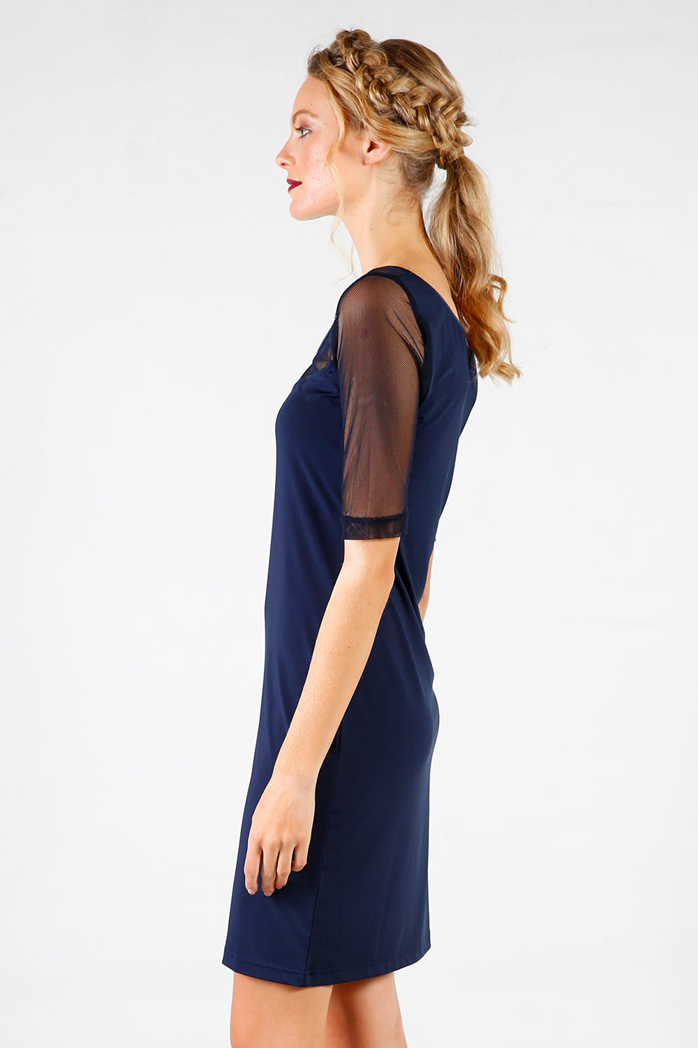 Fix Bit Slip | Undergarments | 3/4 sleeve | Navy Slip | New Zealand Fashion | Annah Stretton