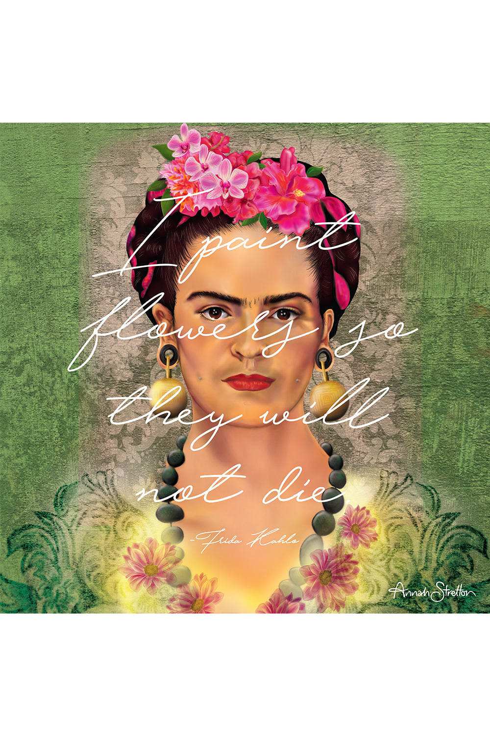 Flowers of Frida Letters Print