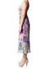 gorgeous designer fashion floral dresses in purple fabric