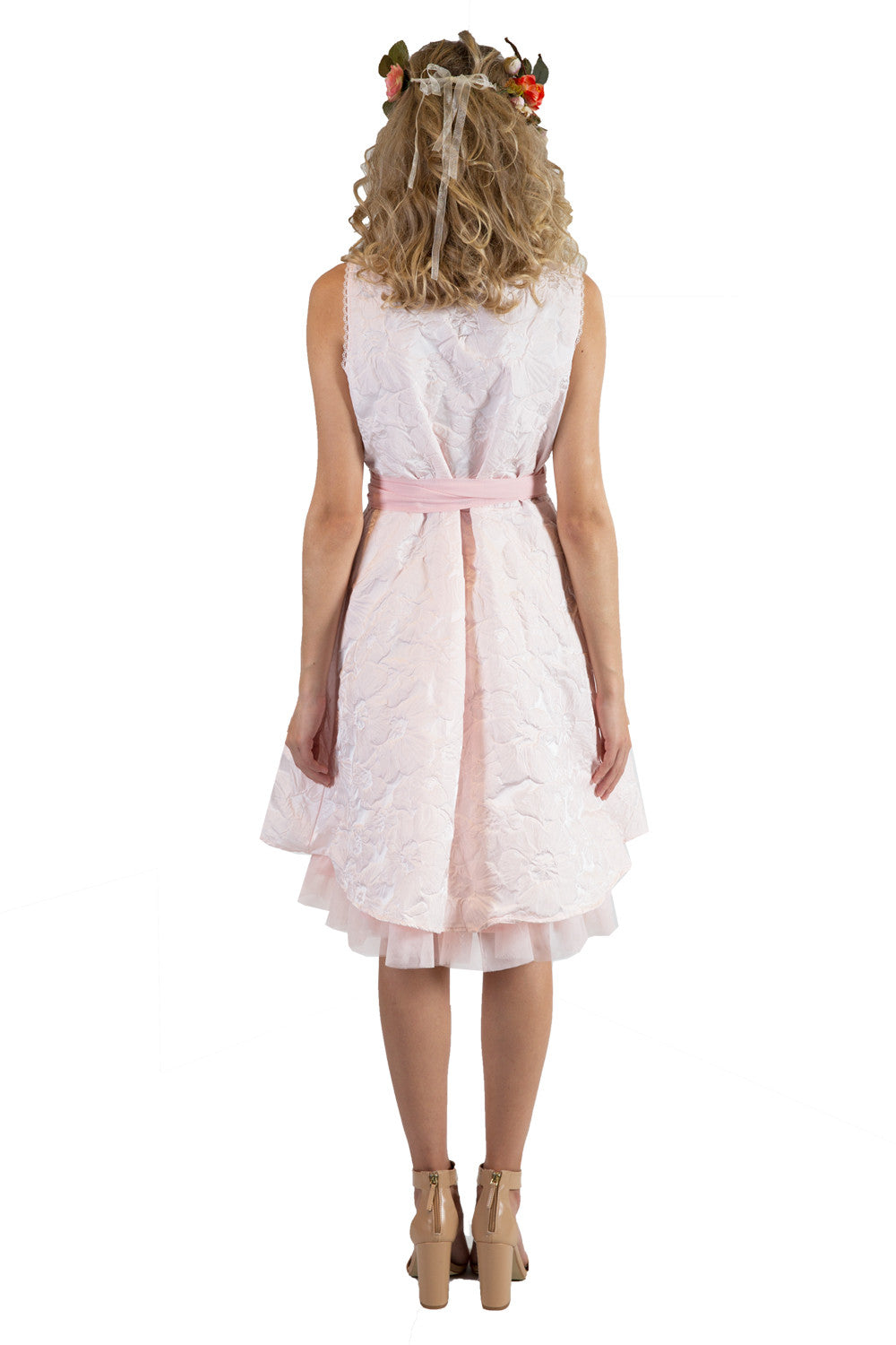 Pink Designer Wrap Dress | New Zealand Occasion Dresses