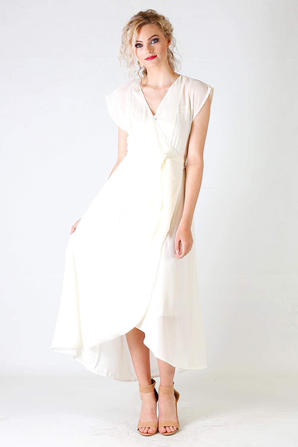Gretchen Caris Dress | Sheer Designer Wrap Dresses | Annah S | Summer / Designer NZ / Bridal NZ / Bridal Party NZ / Wedding Dress NZ /