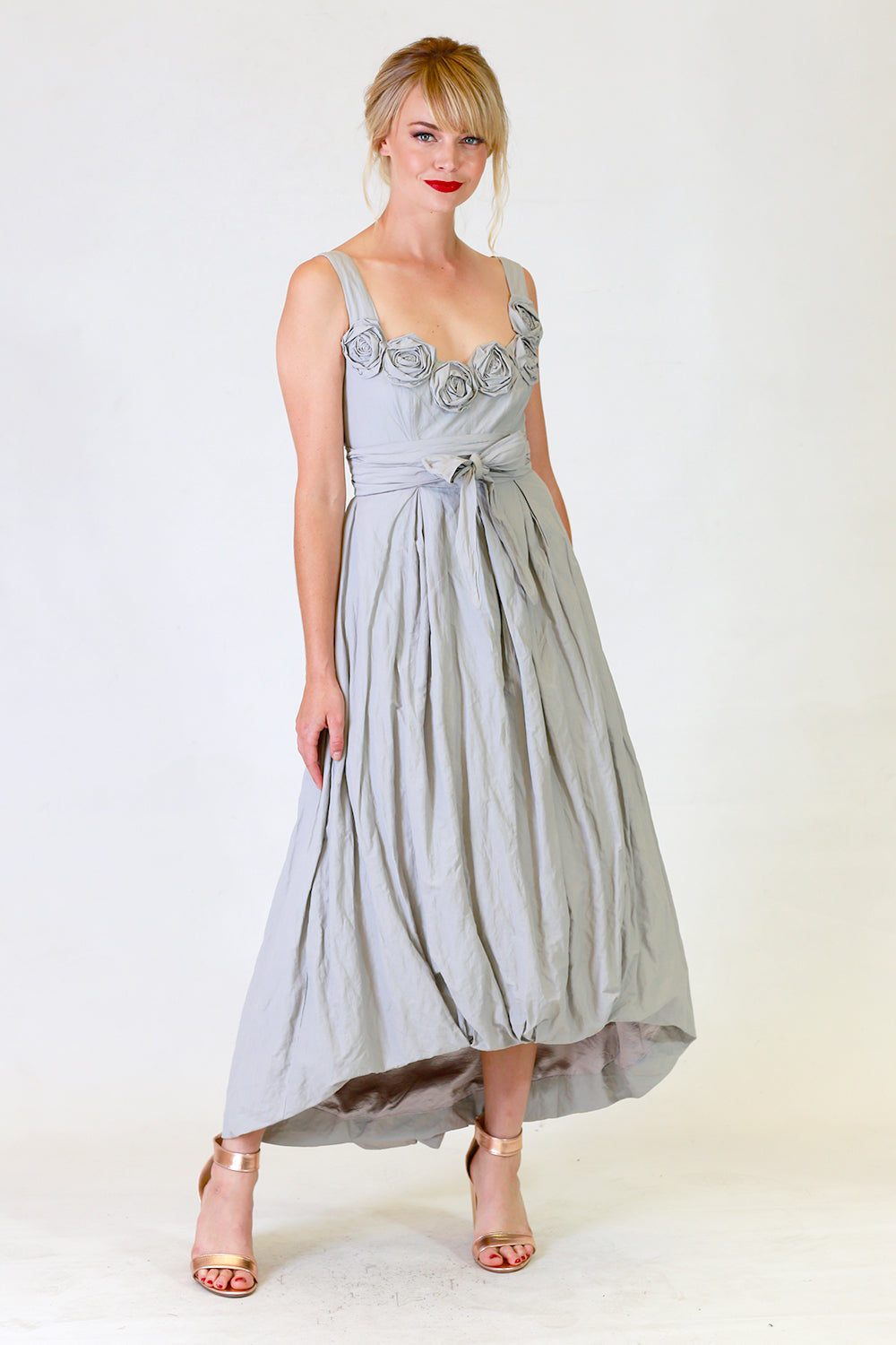 Stephana Tin Rose Dress, Annah Stretton Bridal, Grey Wedding Dress, Shot on Model