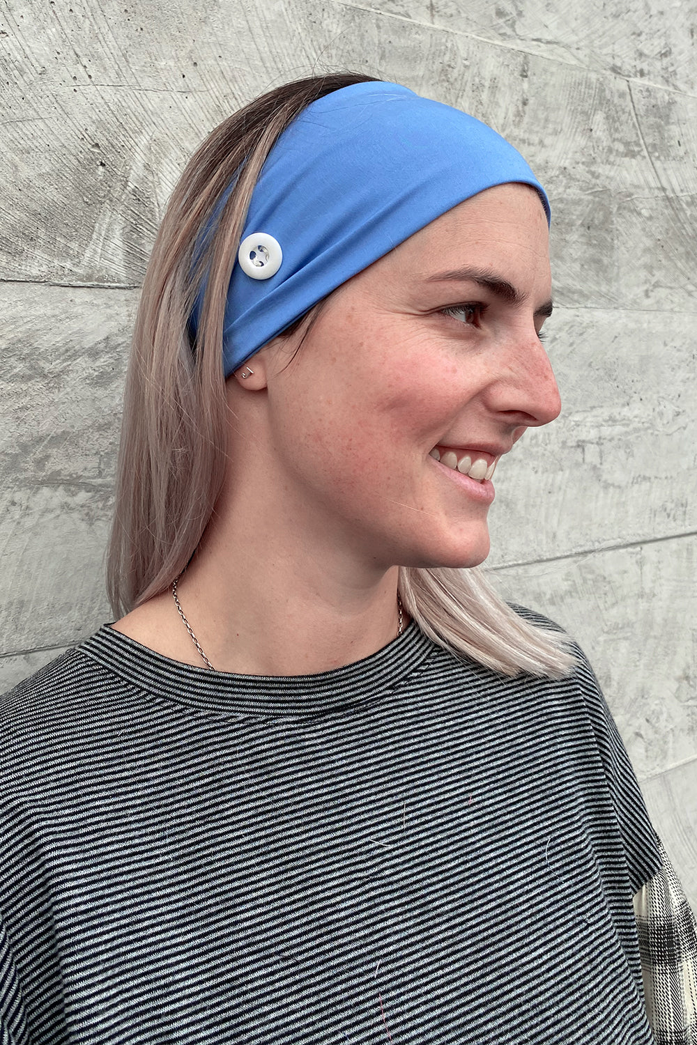 Headband for Face Mask Wear - Pack of 2 Blue