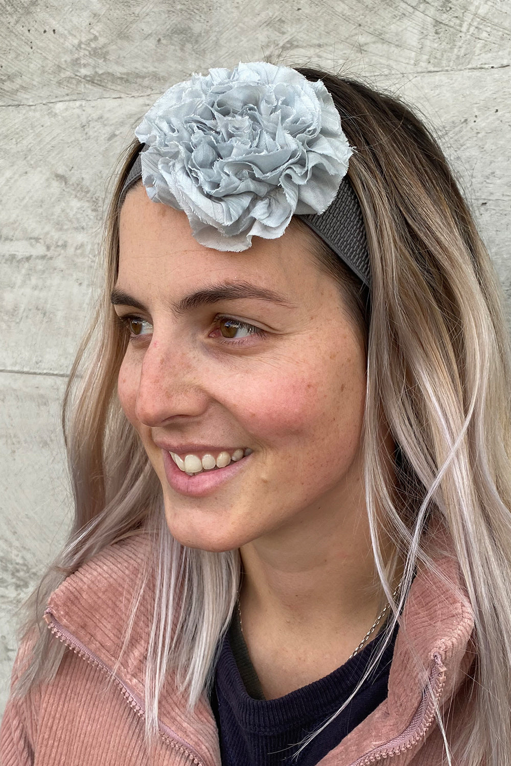 Rose Belt Revival - Thin Headband Blue