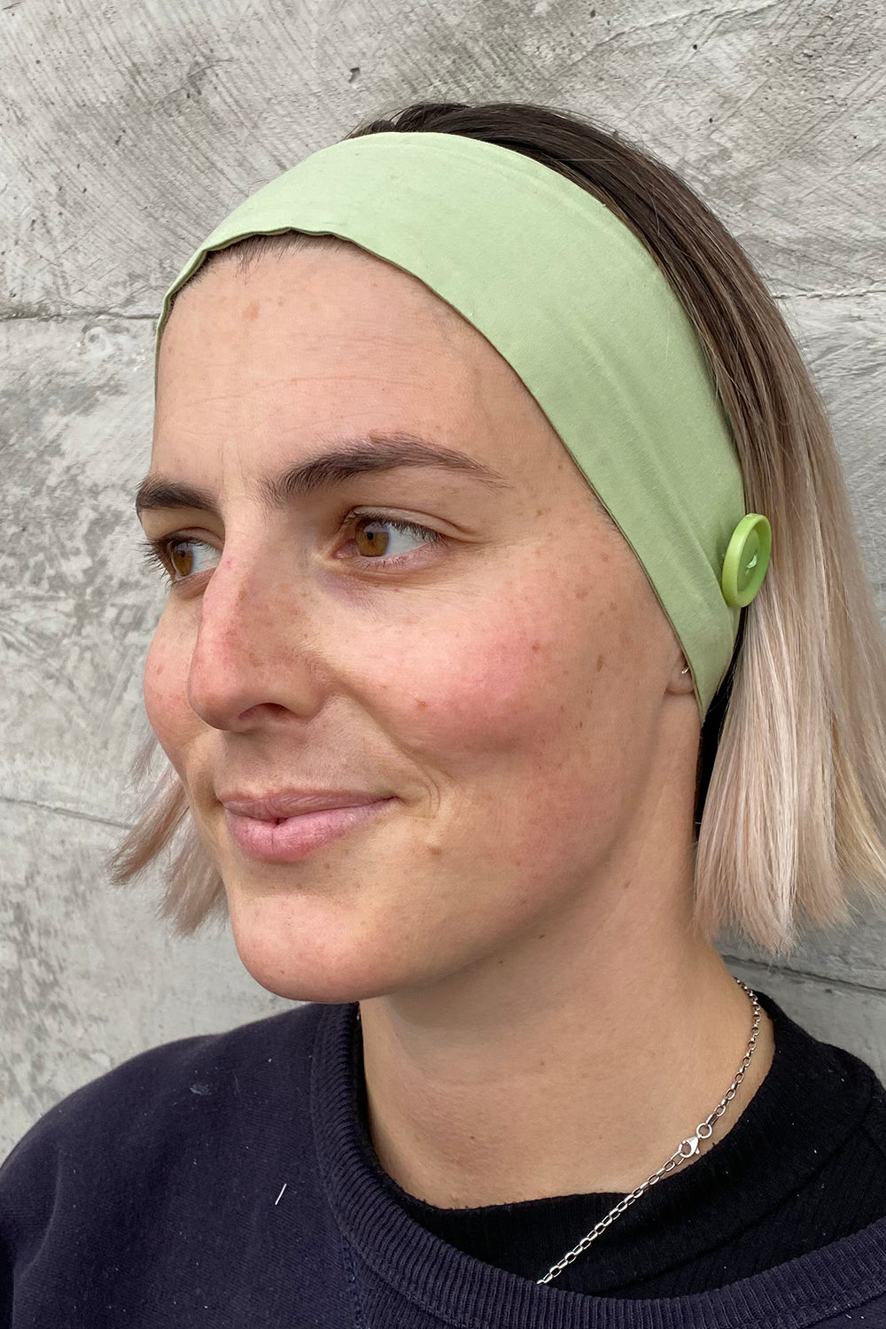 Headband for Face Mask Wear - Pack of 2 - Light Green
