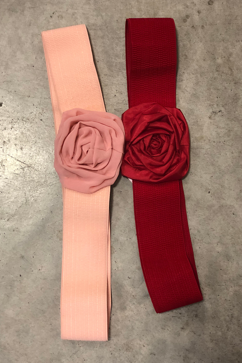 ROSE BELT DEAL - 2 PACK Pink/Shiny Red