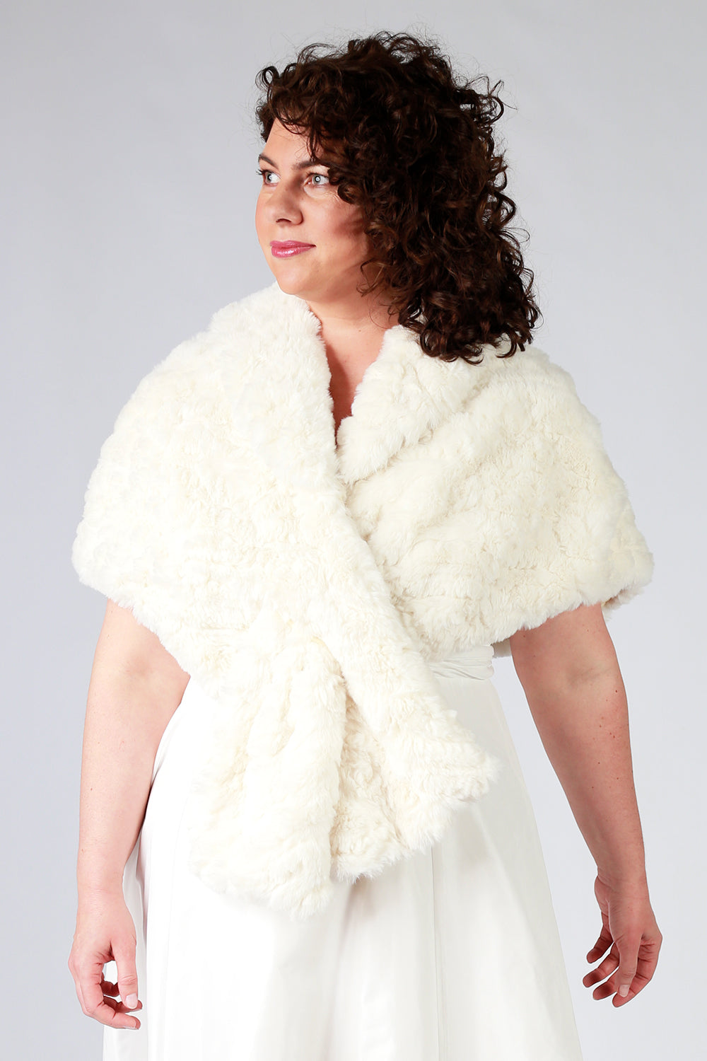 Don't Cross Me Wedding Cape - Cream