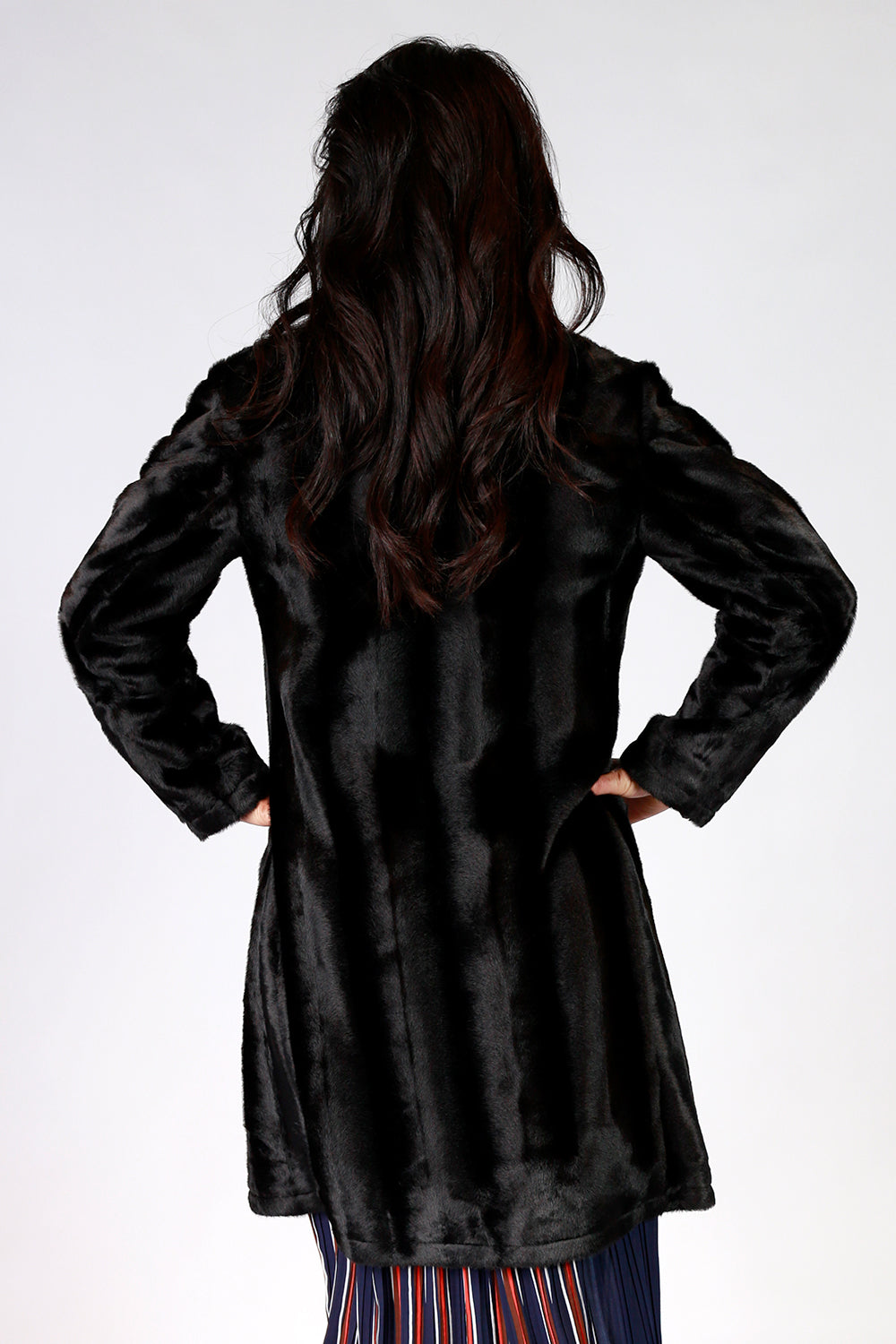 Adoring Aster Coat | Gypsy Fare AW20 | Annah Stretton | Annah Stretton Fashion | Designer Fashion | Black Fur Coat | Faux Fur Coat | Winter Coat | Black Winter Coat | Designer Fur Coat | Annah Stretton NZ | Designer Fashion NZ