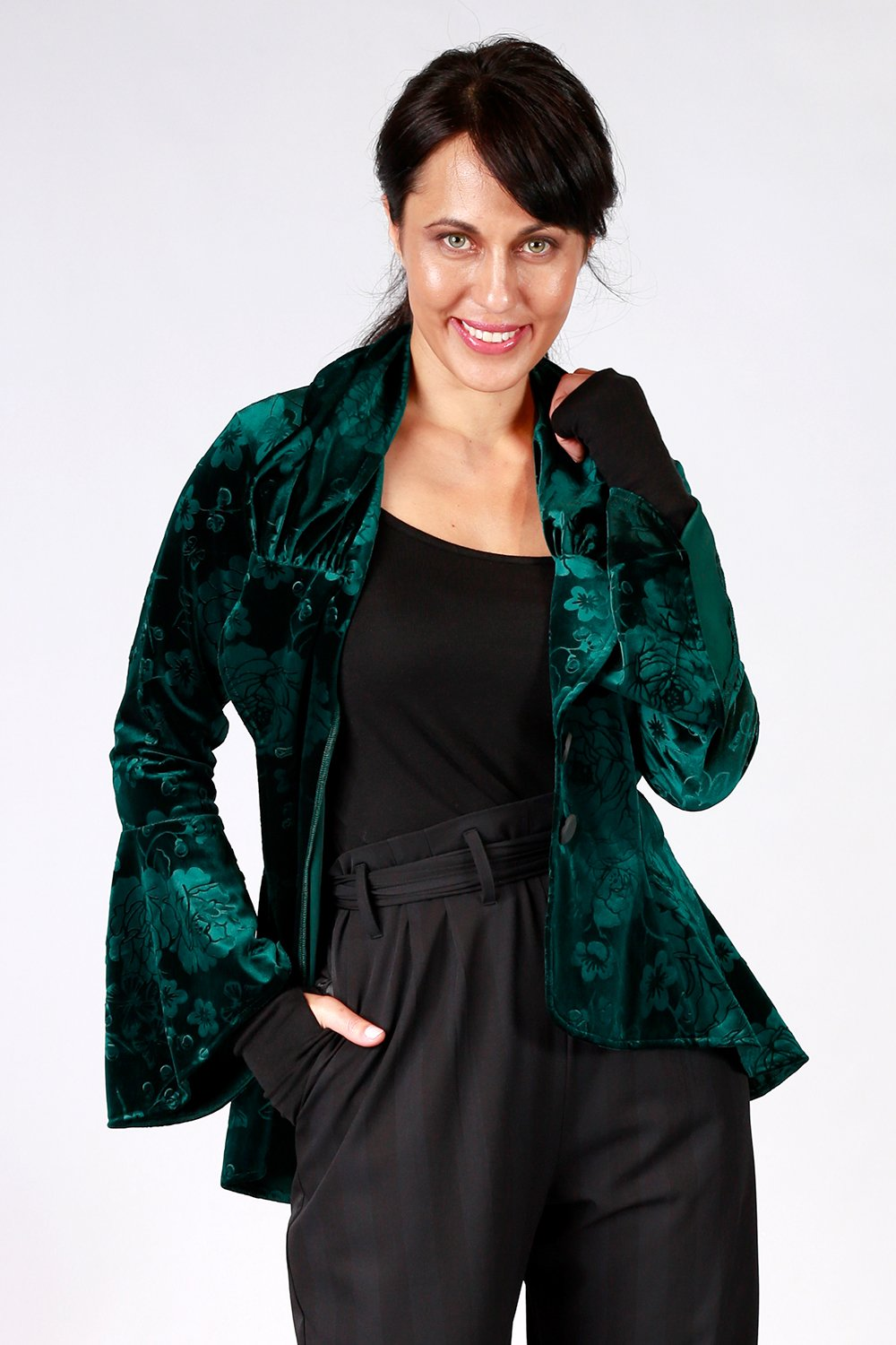 Ady  Velvet Jacket - Green