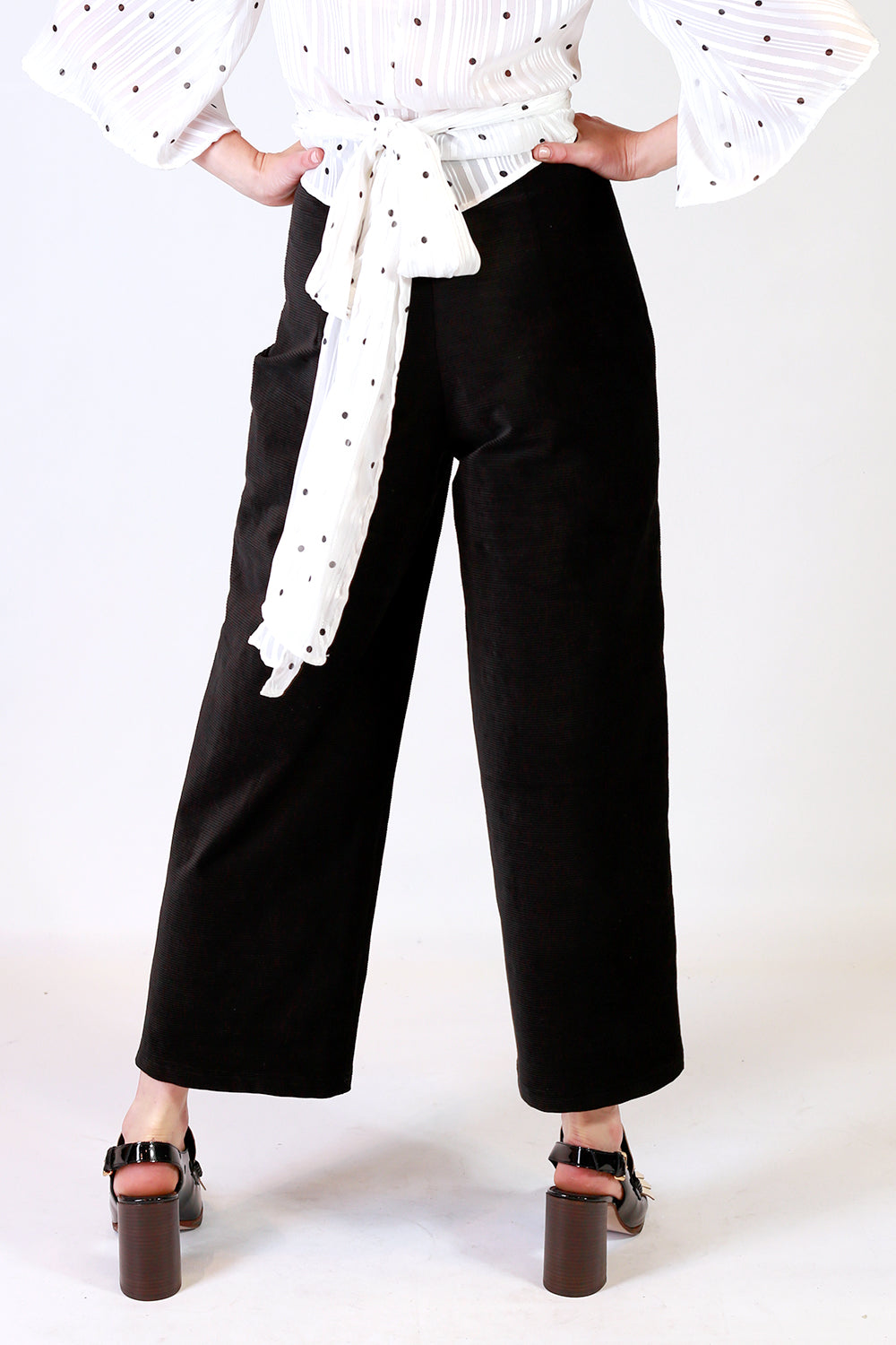 Joel Cord Pants | Crop Pants NZ | Designer Fashion NZ | Black Cord Pants NZ
