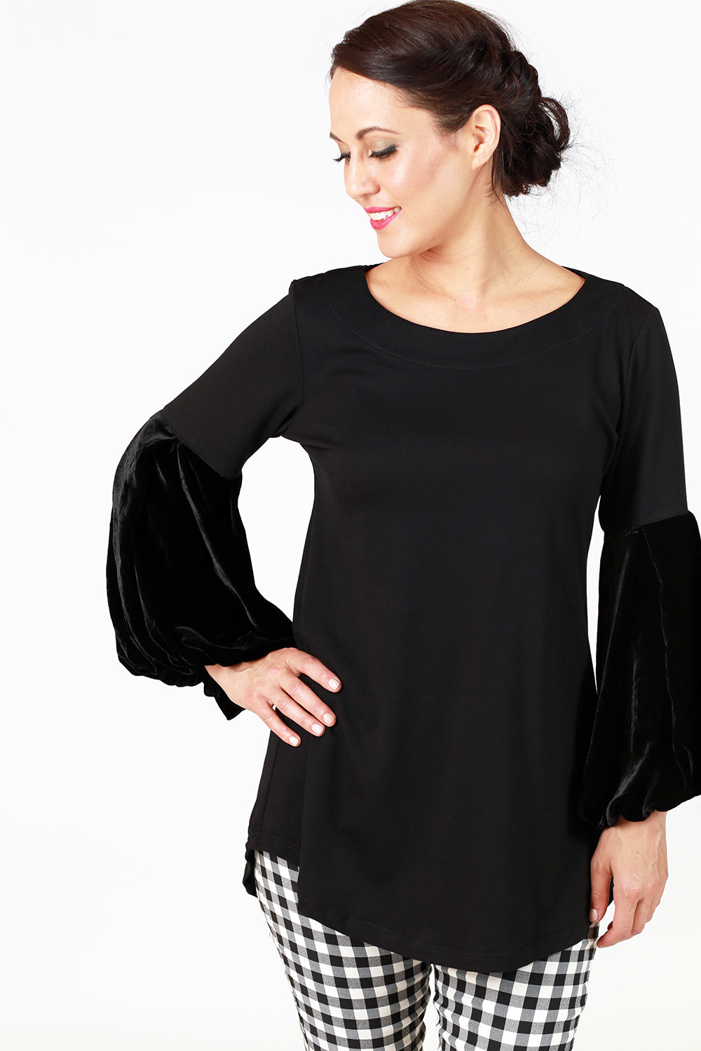 Kitty Jazz Top - Black