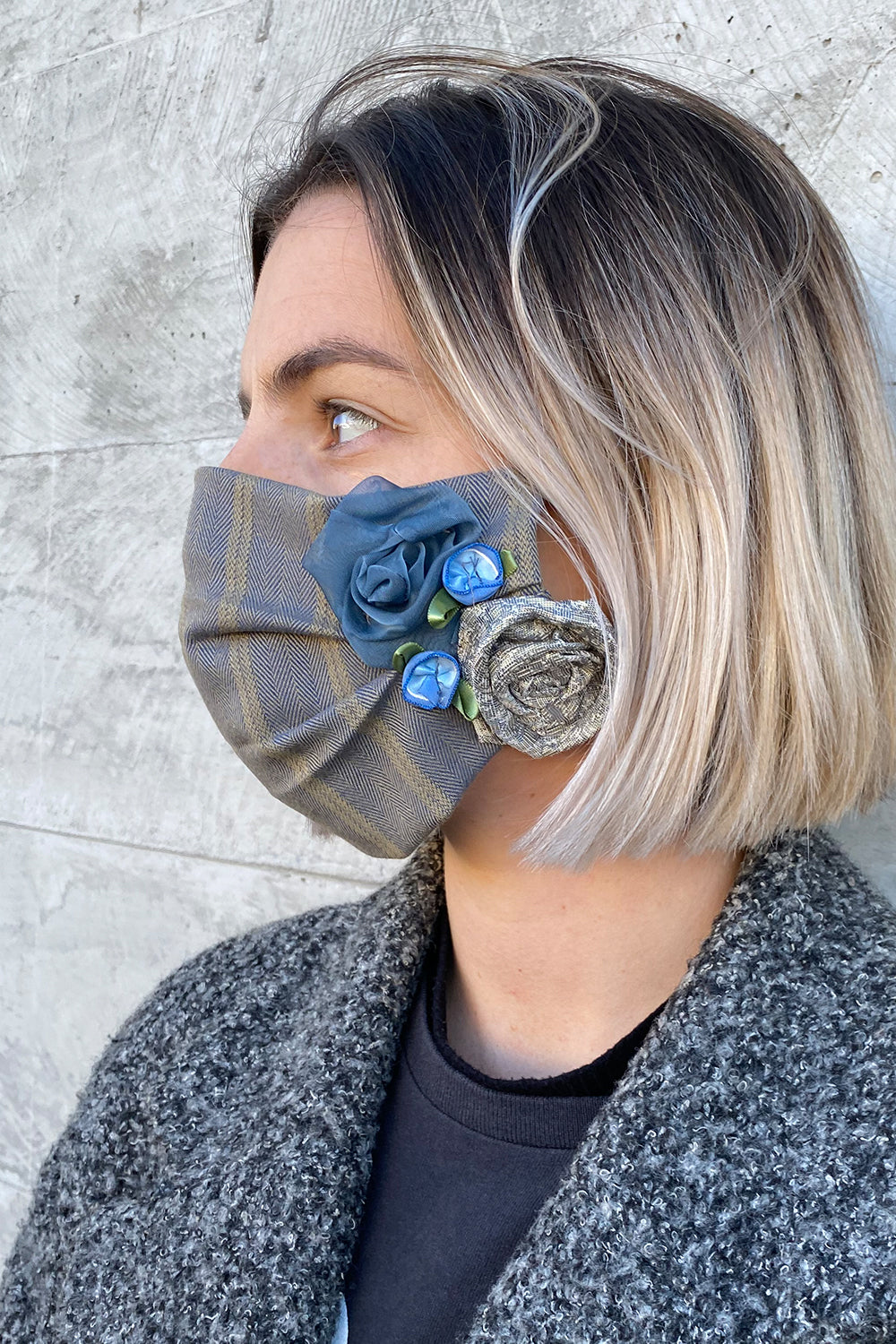 Women's Designer Face Mask - Blue