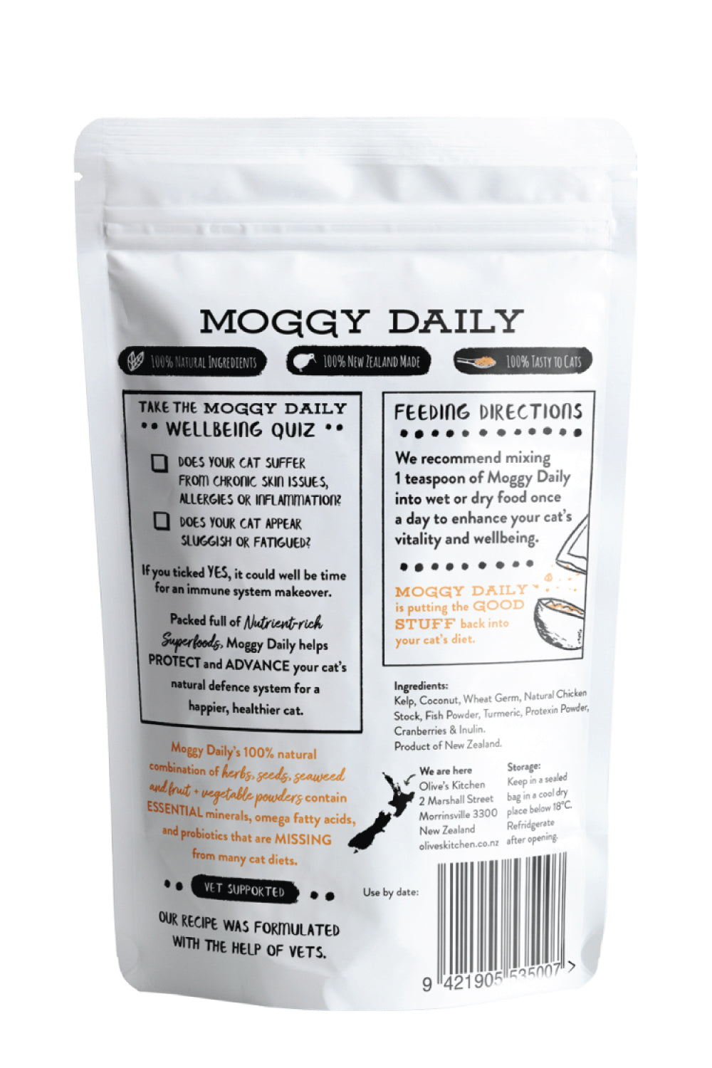 Moggy Daily Supplement Sprinkle - Increase your Pets Immunity
