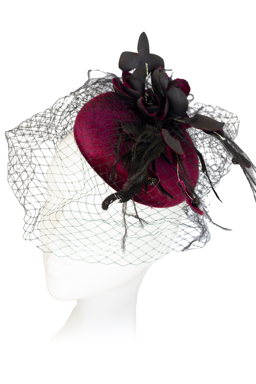 Feather Luxe Fascinator | New Zealand Fashion | Head-wear Fascinator | Annah Stretton