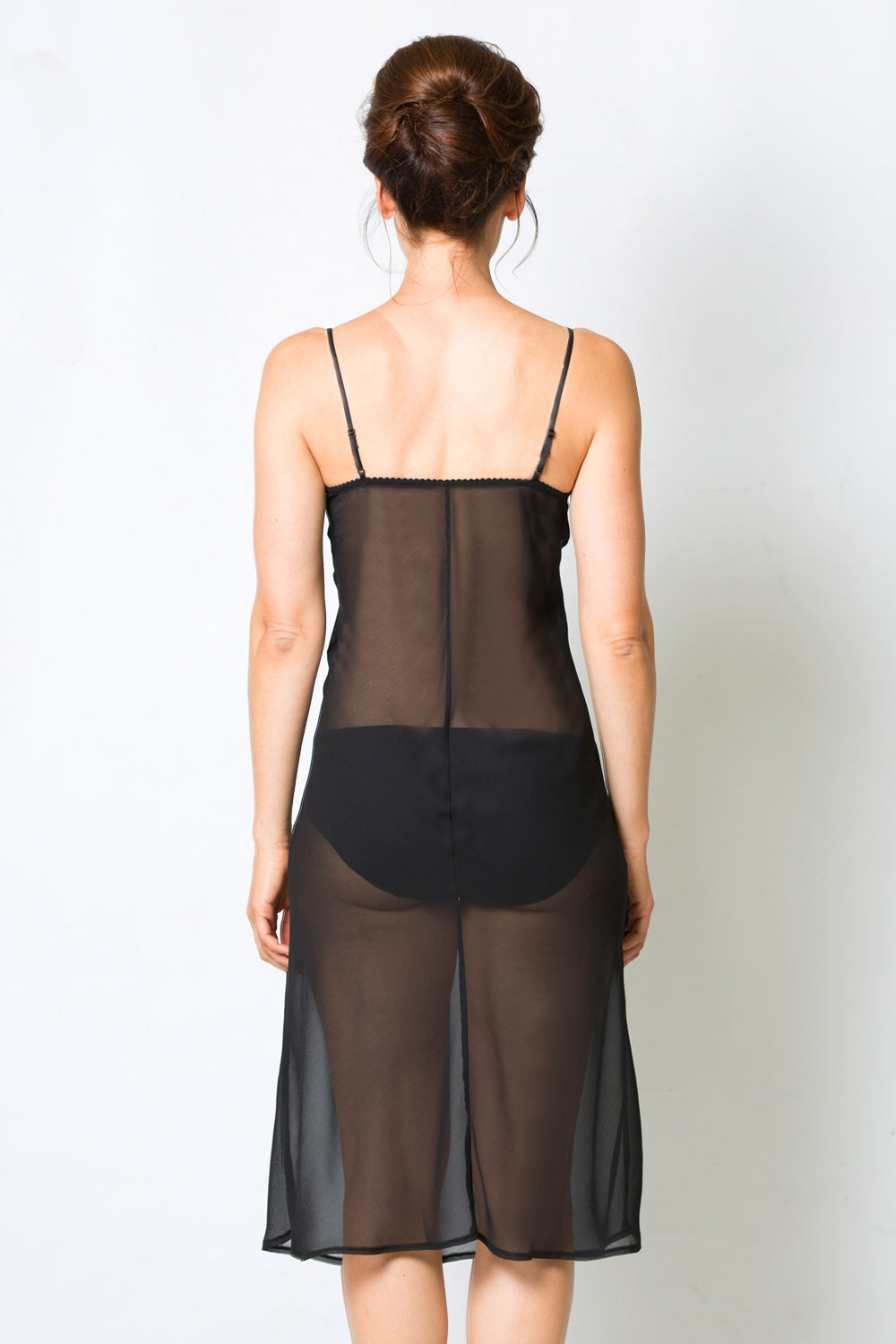 Pam Sheer Slip | Black Slip | Sheer Slip | Undergarments | Essentials | Nightwear | Annah Stretton