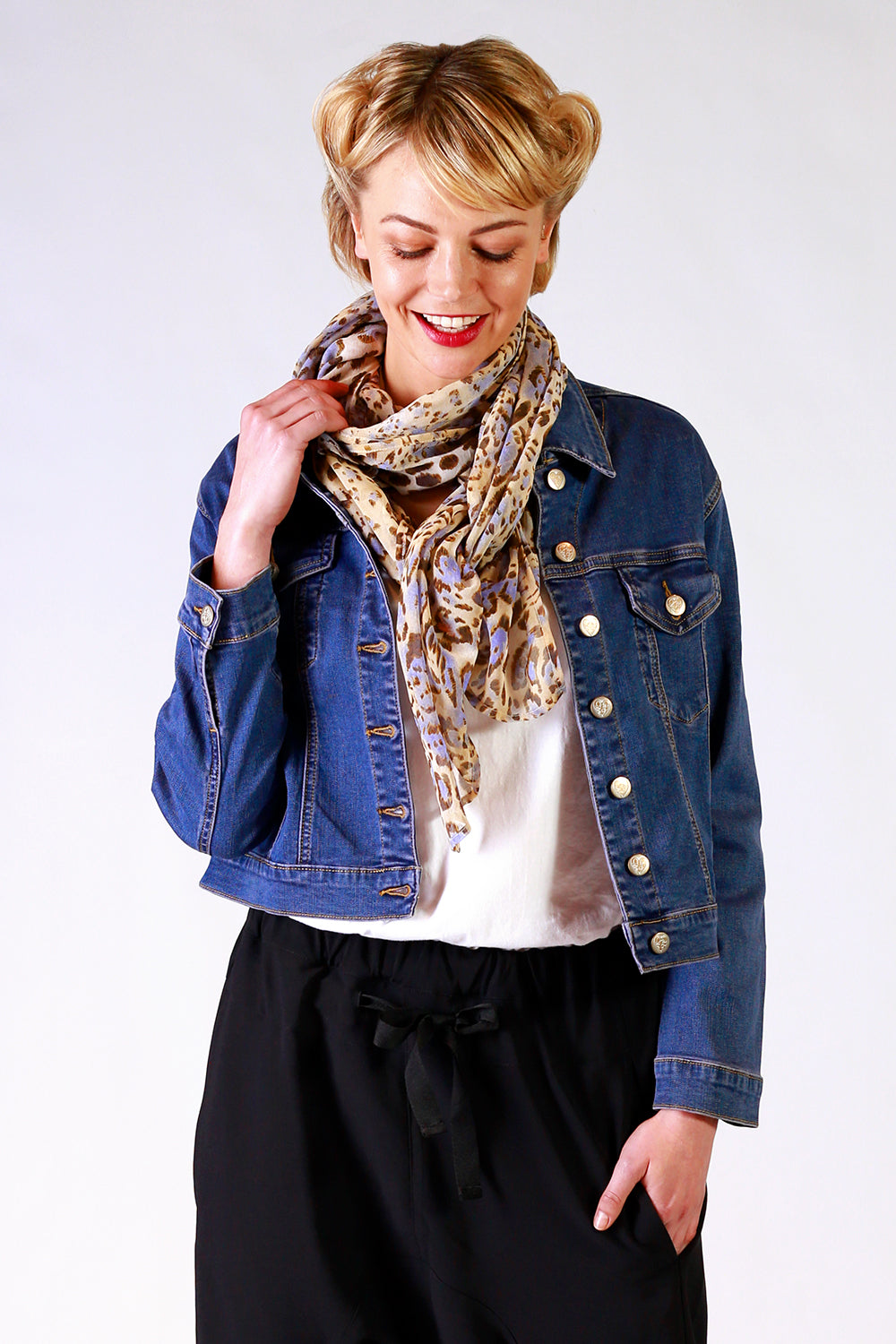 Lana Louise Scarf | Leopard Print Scarf | Designer Fashion Accessories | Scarves | Annah Stretton