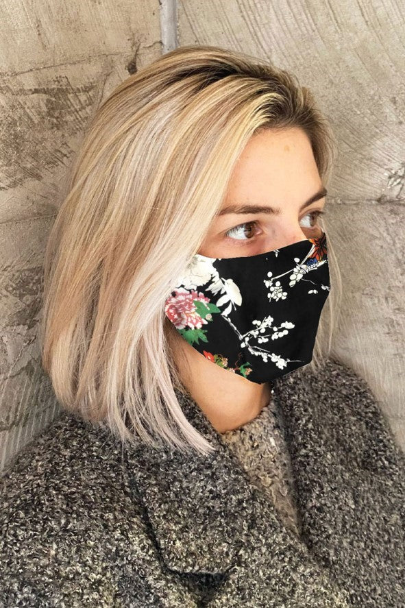 Women's Simplistic Cotton Face Mask - Colour B/Floral