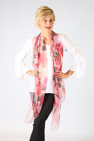 Silk Rose Scarf