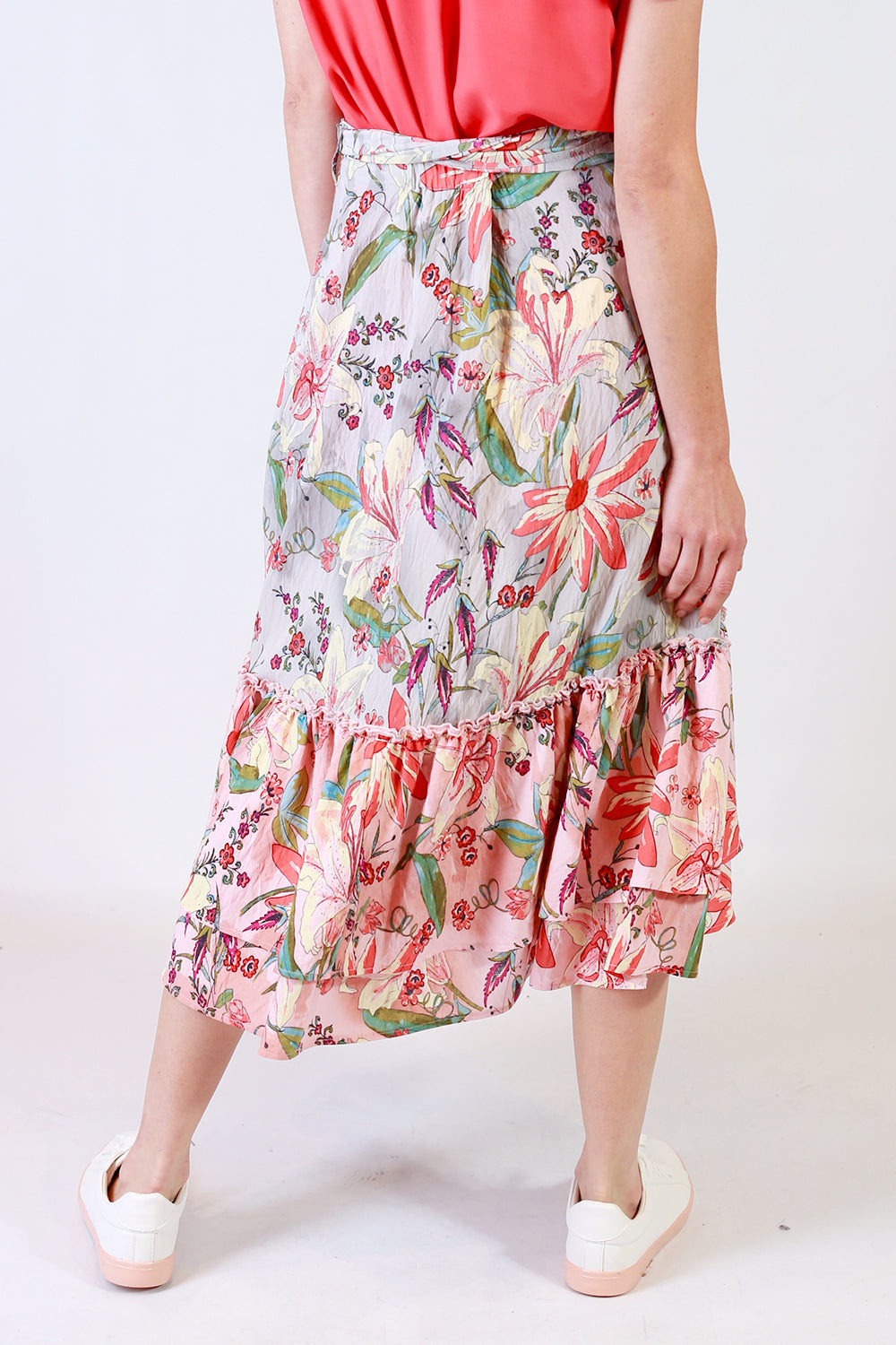 Ink Me Up Skirt  | Annah Stretton Skirts NZ | Ruffle Wrap Skirt NZ | Summer Skirt NZ