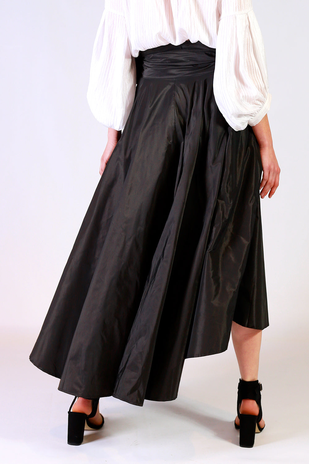 Miriam Max Skirt  | Black Midi Skirt NZ | Wrap Skirt NZ | Summer Skirts NZ