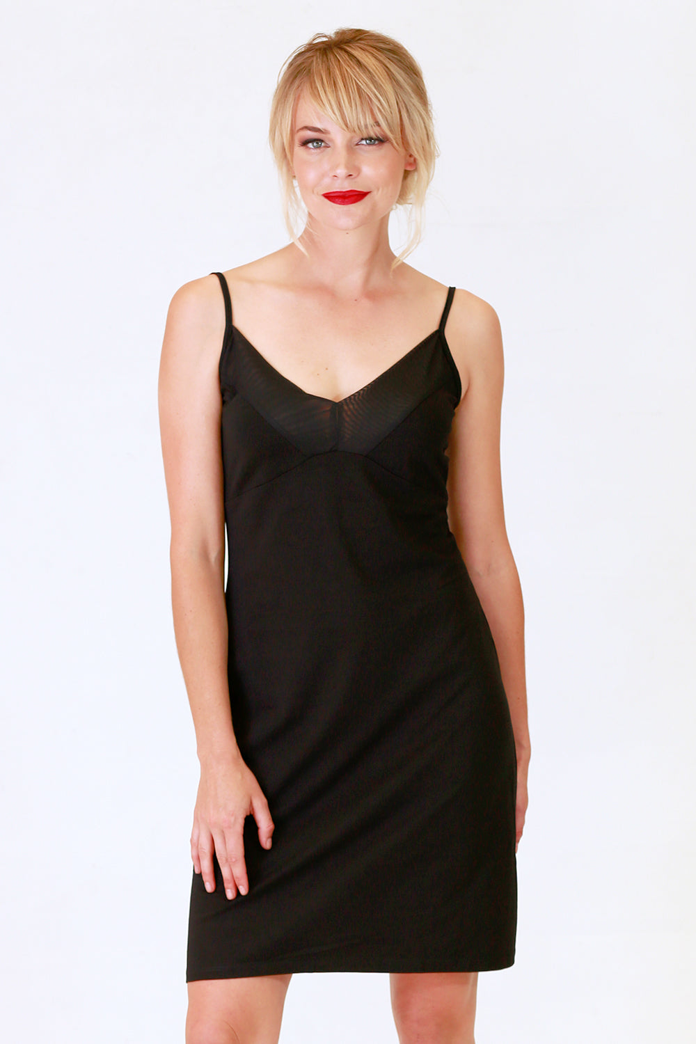 Zita Black Cotton Slip