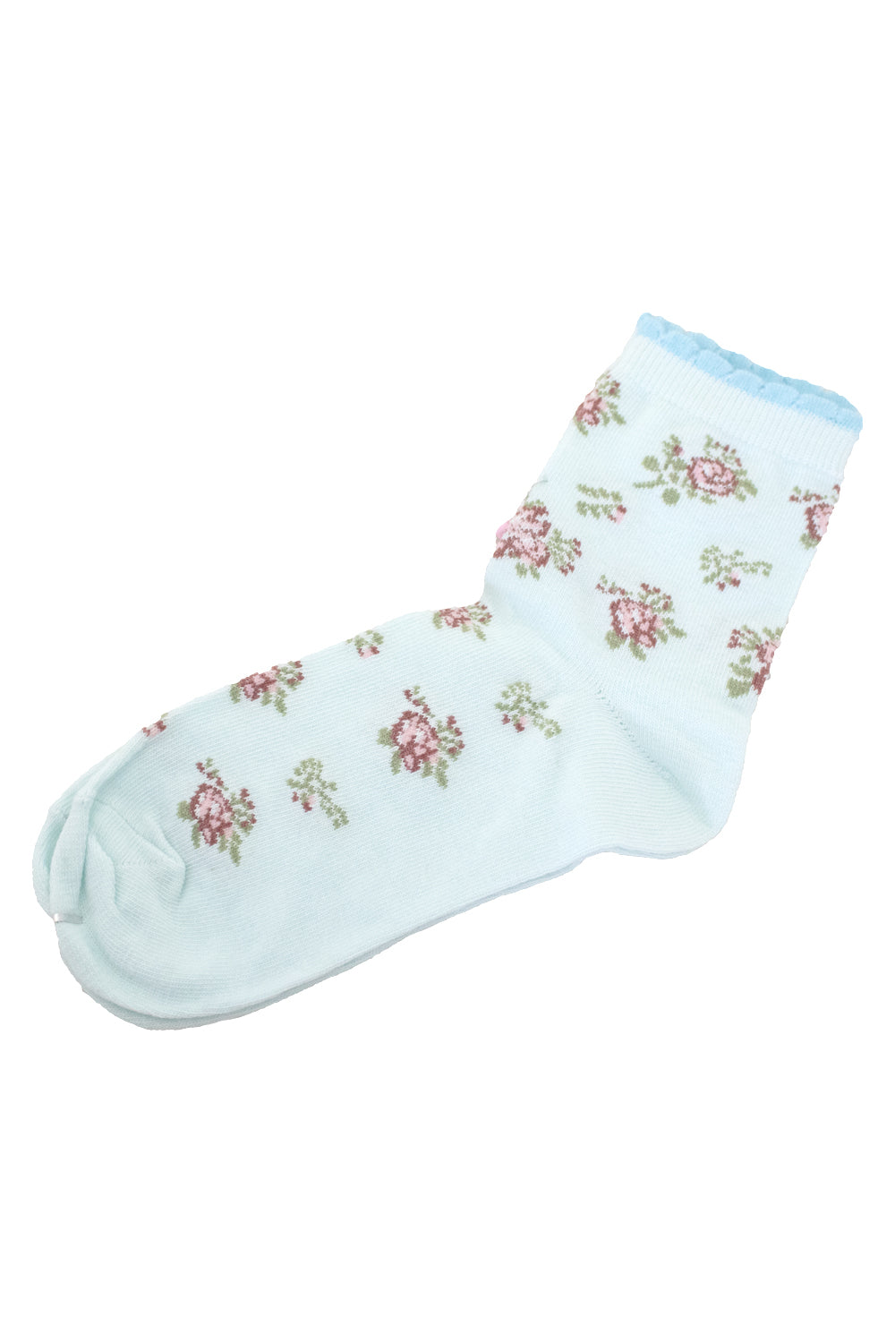 Frilly Floral Socks | Designer Fashion Accessories | Socks | Annah Stretton / Designer NZ