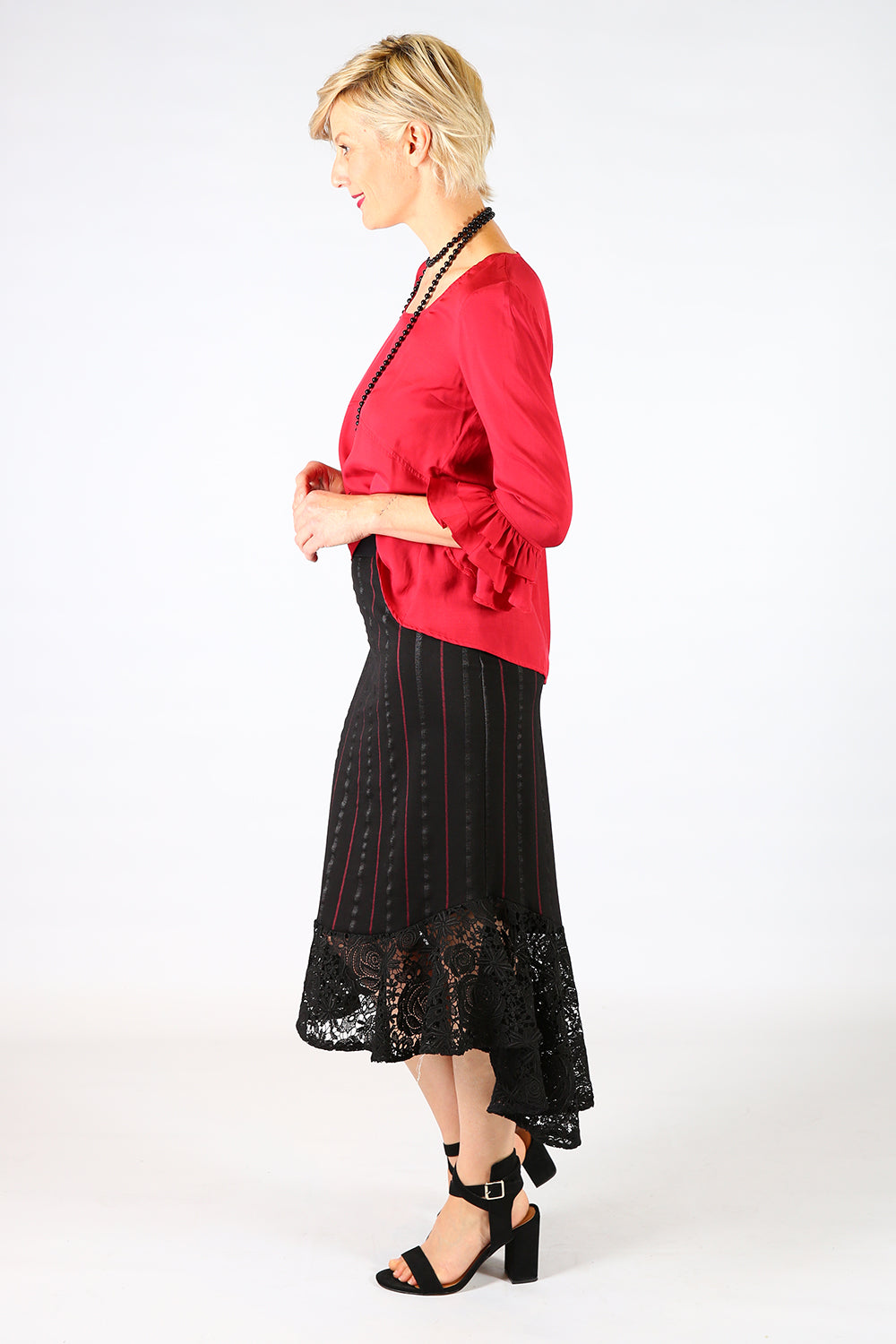 Spring Poppy Lace Skirt