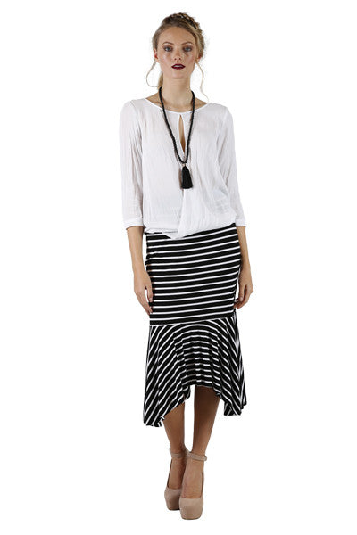 Avery Skirt | Designer Stripe Skirts | Annah Stretton | New Zealand