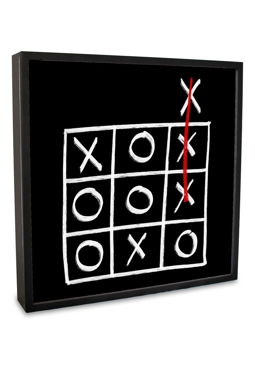 Noughts and Crosses Lightbox | Home Decor | Light box | Art Lightbox | Quote Lightbox | Quote | Annah Stretton | Homewares