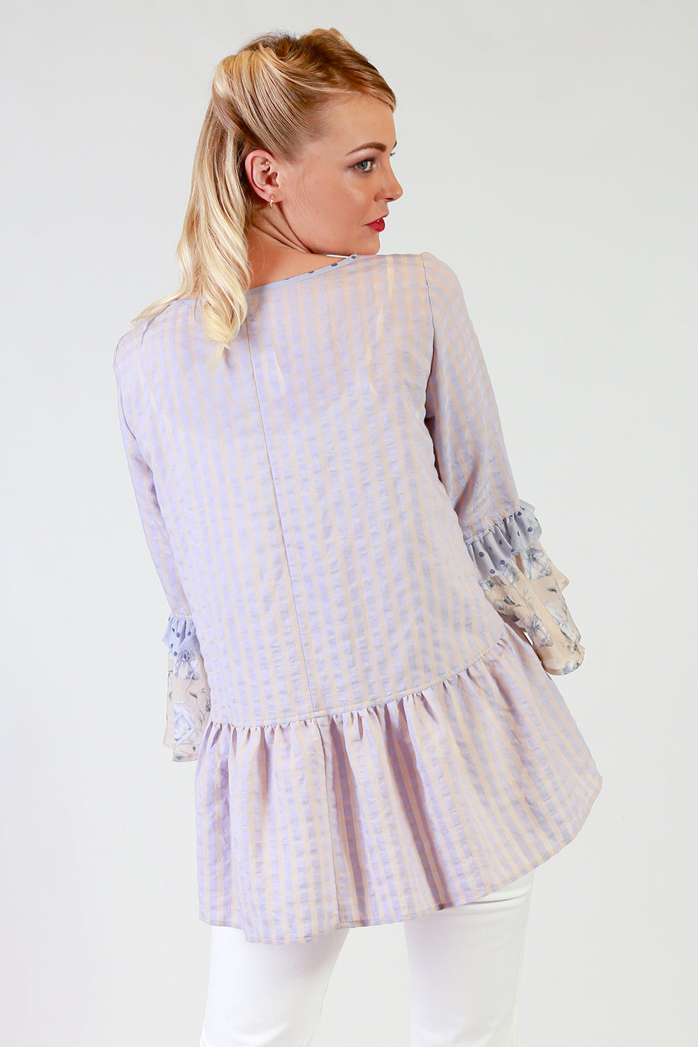 Justine Joni Top | Frill Sleeve Top NZ | Designer Fashion NZ | Tops NZ