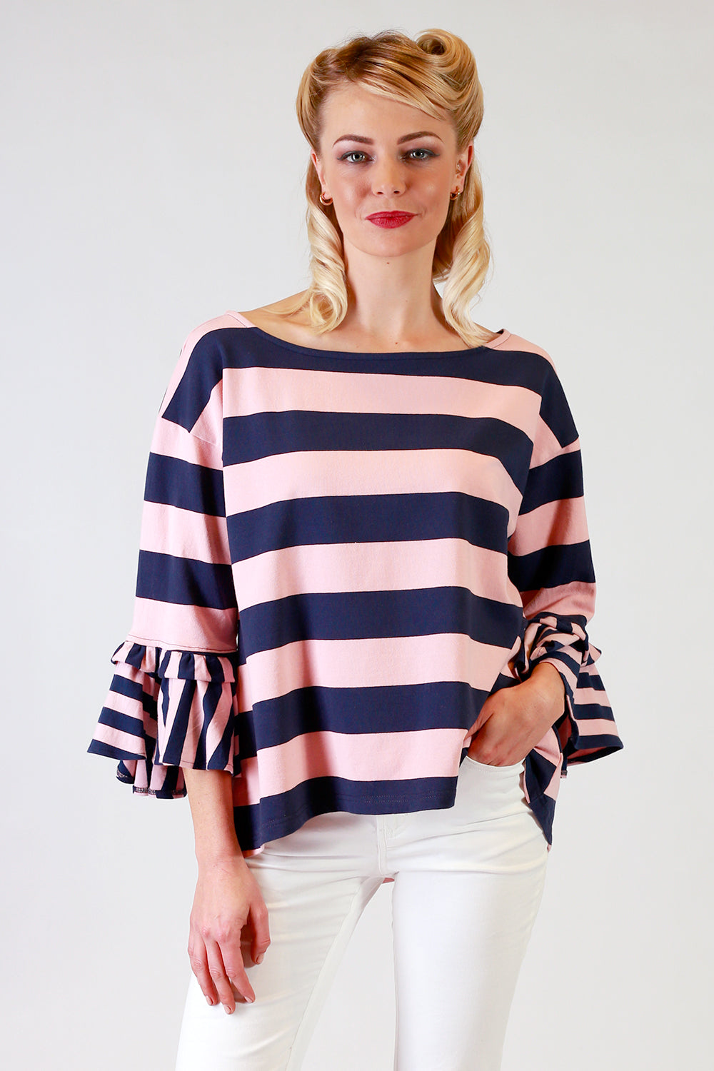 Round the Corner Top | Frill Sleeve Top NZ | Designer Fashion NZ | Tops NZ