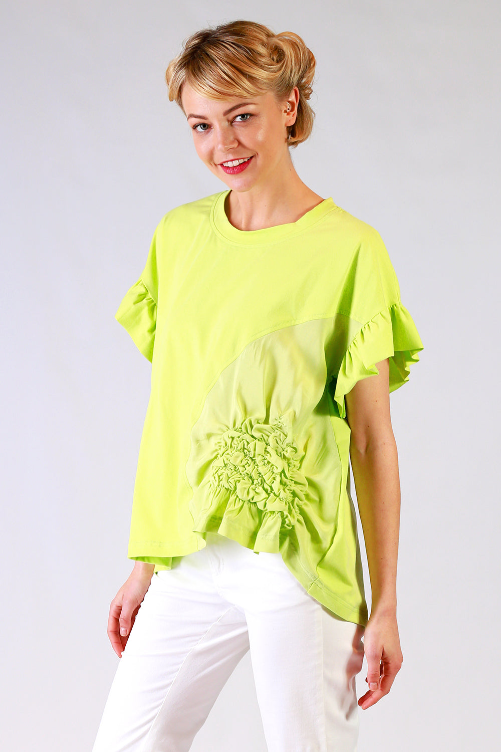 Scrunchie T Shirt | Scrunchie Tee | Green Tee | Summer 19 | Annah Stretton Fashion NZ