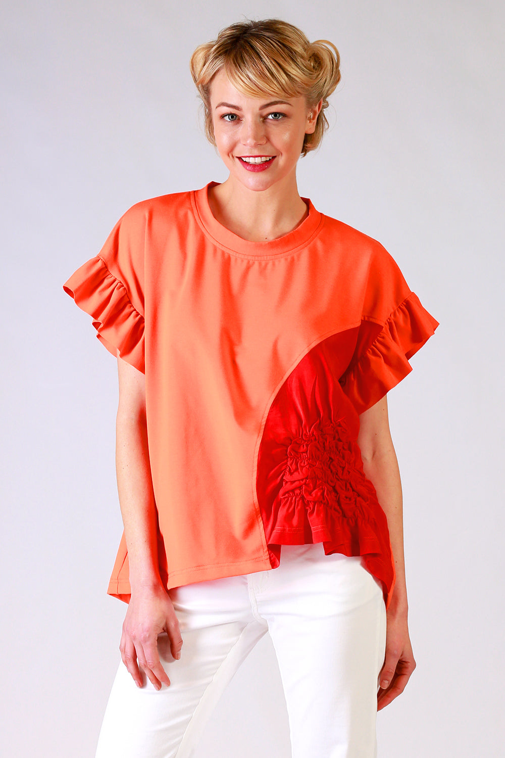 Scrunchie T Shirt | Scrunchie Tee | Return to Sender | Orange Tee | Summer 19 | Annah Stretton Fashion NZ