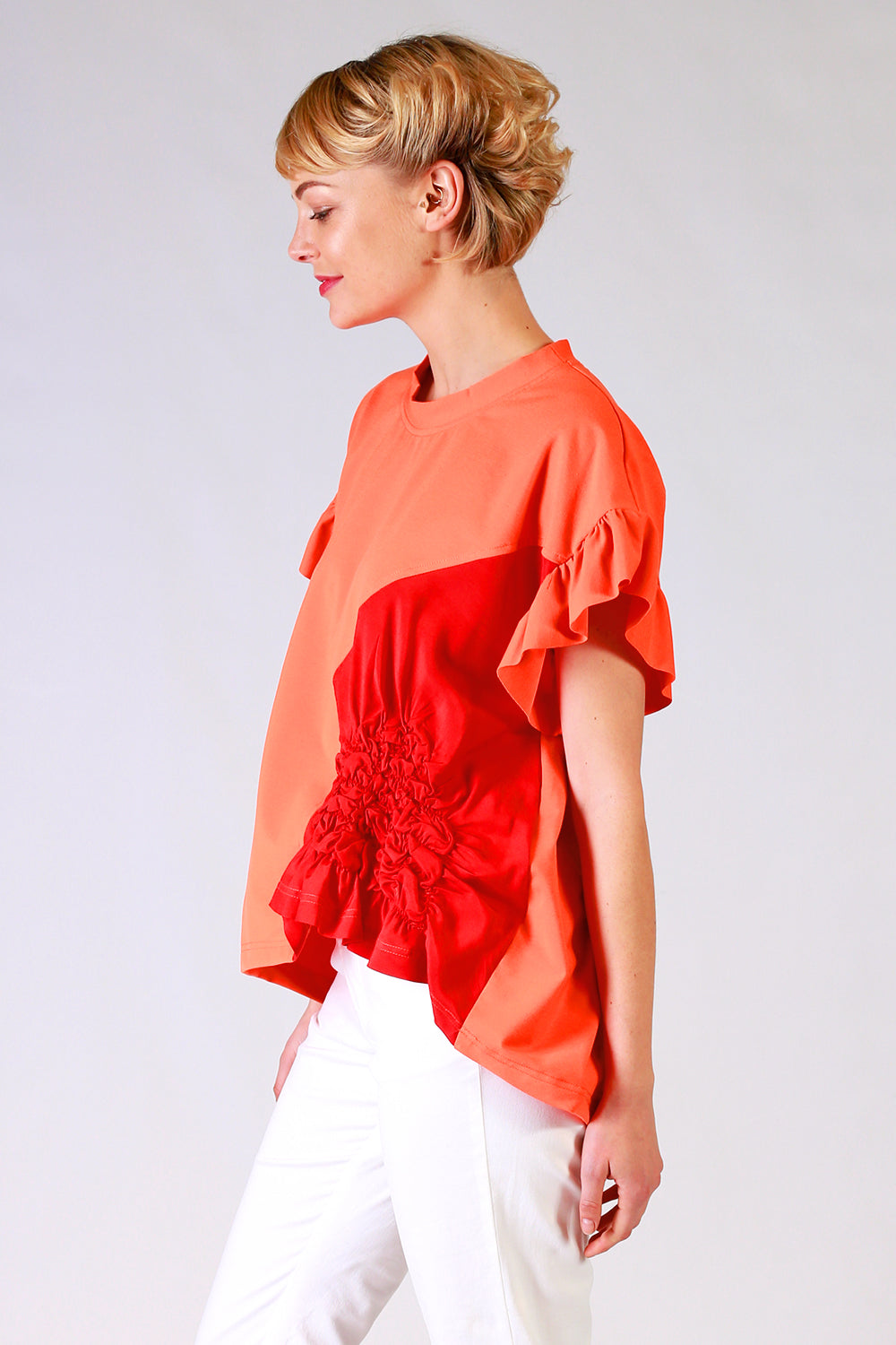 Scrunchie T Shirt | Scrunchie Tee | Orange Tee | Summer 19 | Annah Stretton Fashion NZ