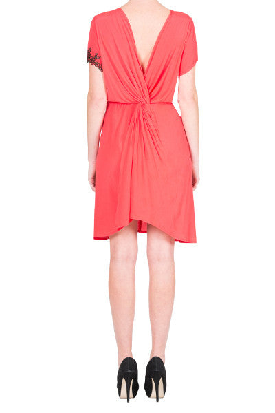 salmon pink formal occasion tunics