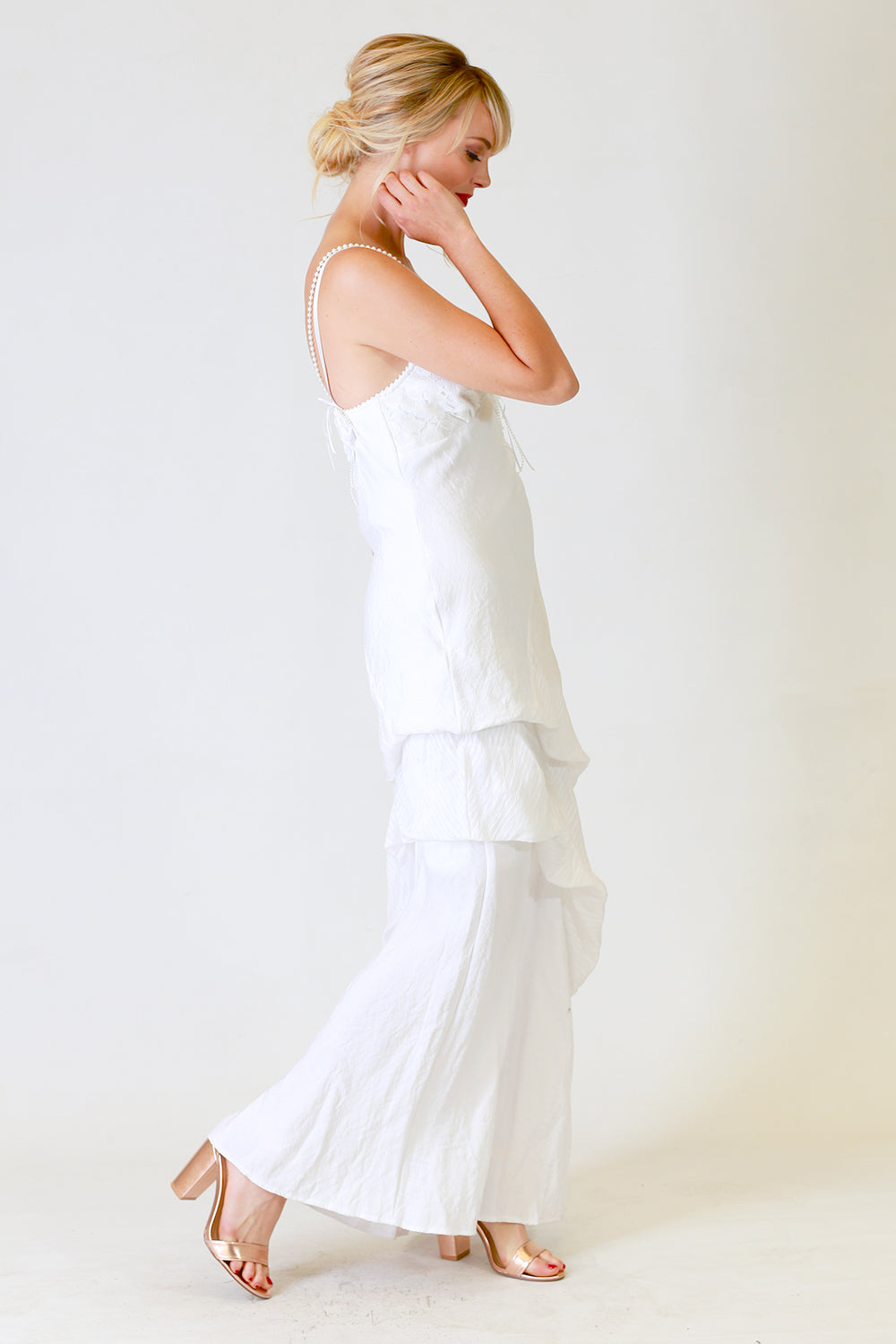 Hayley Ruby Dress, Annah Stretton Bridal, Ivory Wedding Dress, Shot on Model