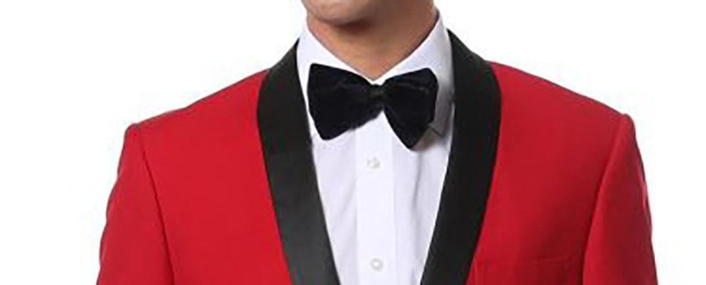 Red Tuxedo in Men's Formal Attire