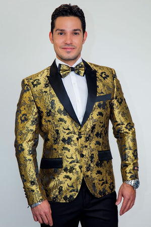 Amsterdam Tuxedo Jacket Peak - XS / Gold - Venta Smoking