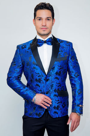 Amsterdam Tuxedo Jacket Peak - XS / Royal Blue - Venta