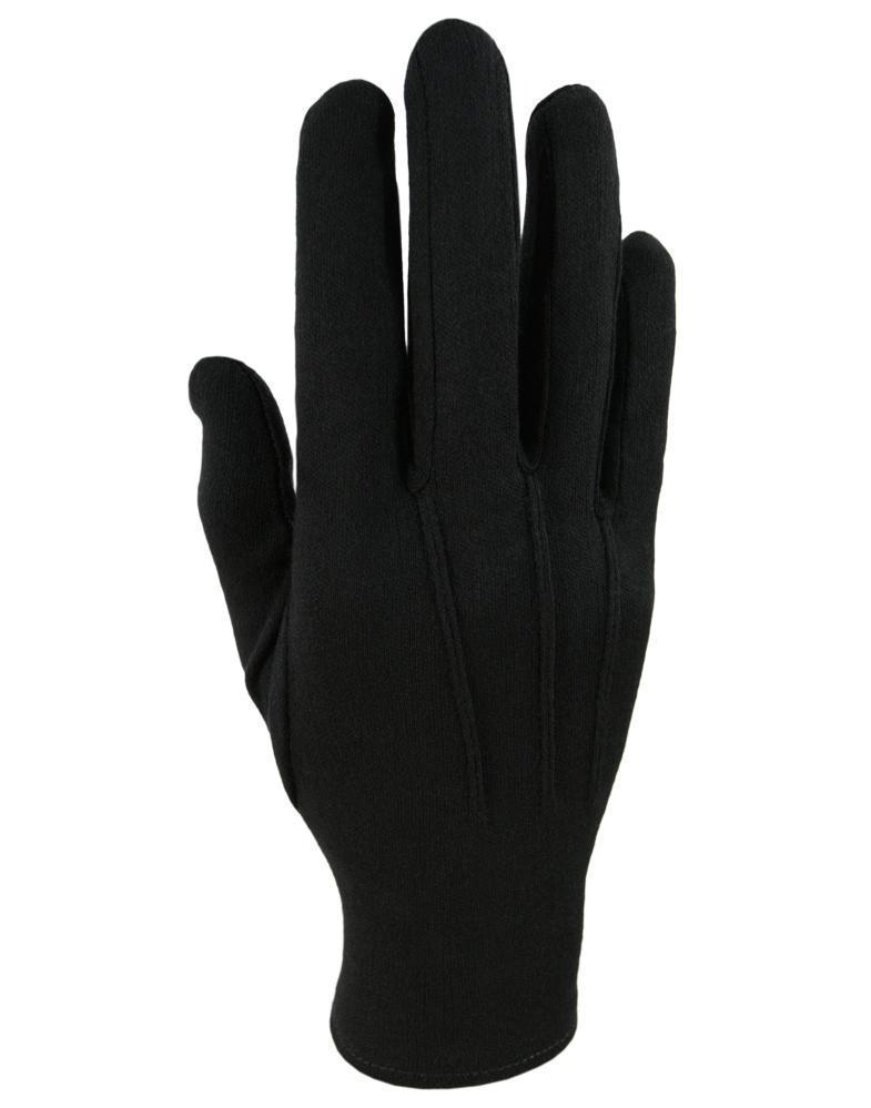 Black Cotton Gloves - Black / S - Guantes caballero