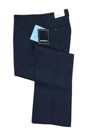 Bradley Black Luxury Wool Blend Suit Pants - Unhemmed - 28 /
