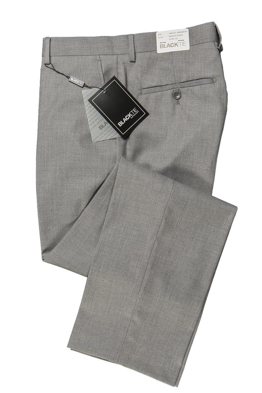 Bradley Heather Grey Luxury Wool Blend Suit Pants - 28 / 30